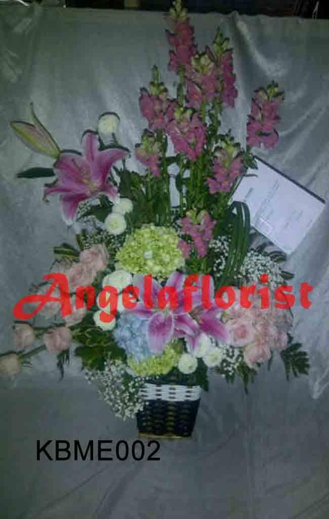 karangan bunga meja, karangan buga segar, karangan bunga mawar