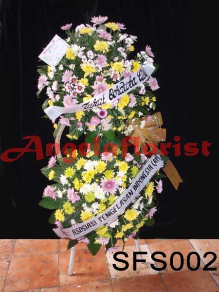 karangan bunga standing, karangan bunga segar, standing flowers, karangan bunga dukacita